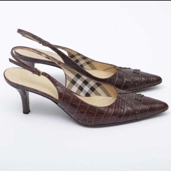 Burberry Shoes - Burberry Slingback Pumps